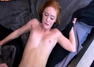 Redhead sucking on that dick in POV