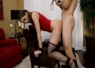 Big-breasted babe enjoys BDSM incest