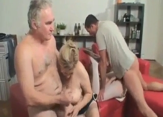 Four-way incest with two blondes