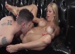 Brutal tit-fucking for a kinky MILF