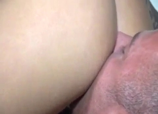 Eating that delicious pussy like crazy