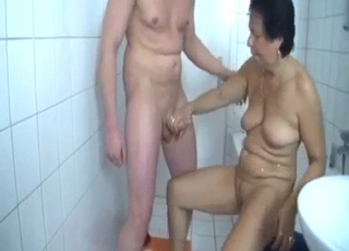 Mommy happily rides his hot cock