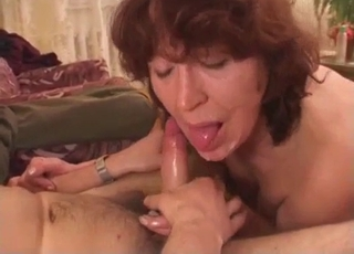 Extreme incest with a redheaded MILF
