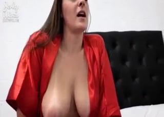 Devious brunette deepthroating dick