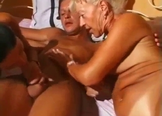 Group sex session with all the family
