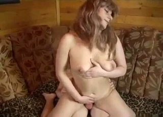 Twisted MILF rides her boy's big cock