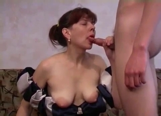 Mommy wants to deepthroat son's cock