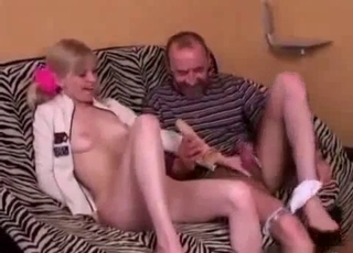 Daddy teaches daughter all about sex