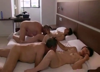 Twisted four-way incest sex session