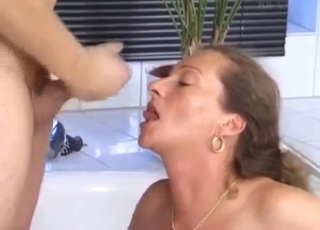 Passionate siblings fucking in the bathroom