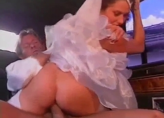 Bride's late because her father fucks her
