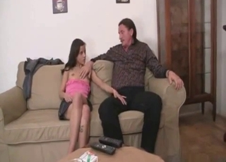 Insane teen seducing her kinky father