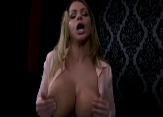 Blonde giving him a great blowjob