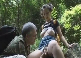 daddy sucking on his little girl's titties