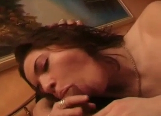 Incredible blowjob in an incest video