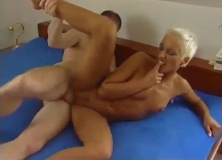 Tanned MILF drilled by her brother