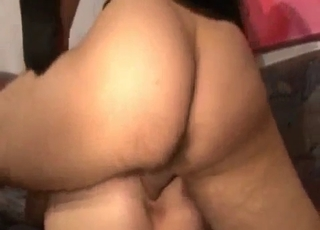 Extreme gape in a hardcore video