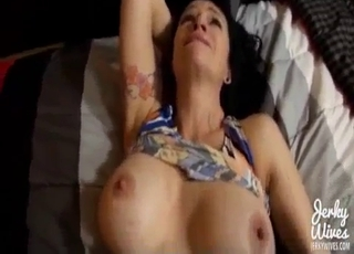 Moaning MILF gets fucked in POV