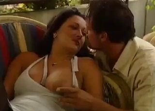 Balcony incest session with a MILF