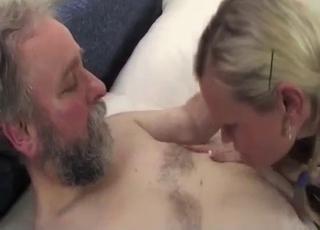 Braided blonde seduced by her daddy