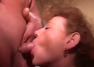 Pussy eating for his kinky mommy