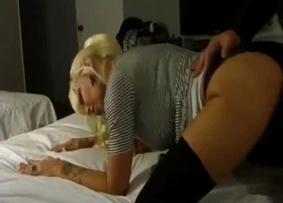 Blonde loving this doggy style incest