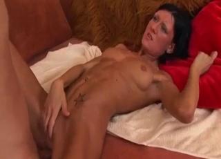 Brunette gets fucked hard sideways