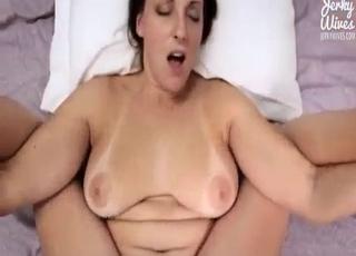 Chubby babe enjoys incest in POV