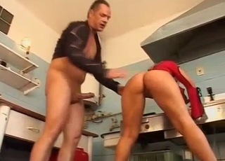 Blonde's pussy destroyed by her father
