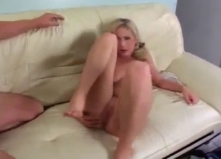 Leggy blondie destroyed anally