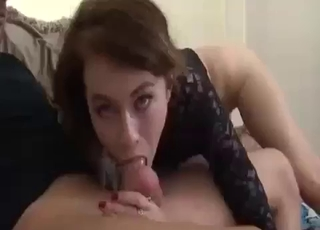 POV cock-sucking from a sexy slut