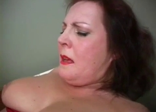 Chubby MILF bitch ruined by her son