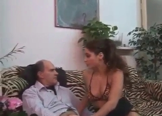 Babe happily fucks her bro and dad
